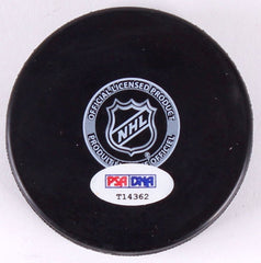 Ryan Nugent-Hopkins Signed Oilers Logo Hockey Puck (PSA) 2011 #1 NFL Draft Pick