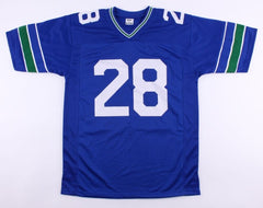 Curt Warner Signed Seahawks Jersey (JSA) Seattle Running Back (1983–1989)