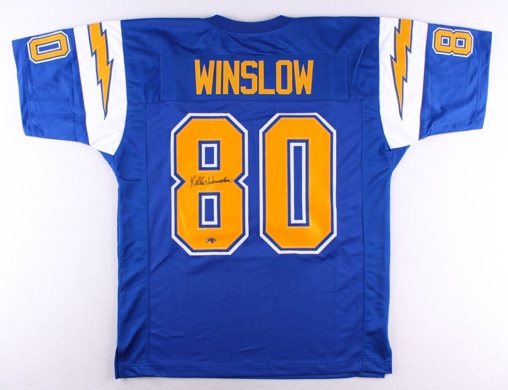 Kellen Winslow Signed Chargers Jersey (MAB) 5× Pro Bowl T.E. (1980–1983, 1987)