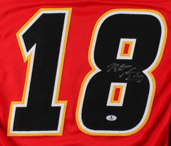 Matt Stajan Signed Flames Jersey (Beckett COA) Playing career 2004–present