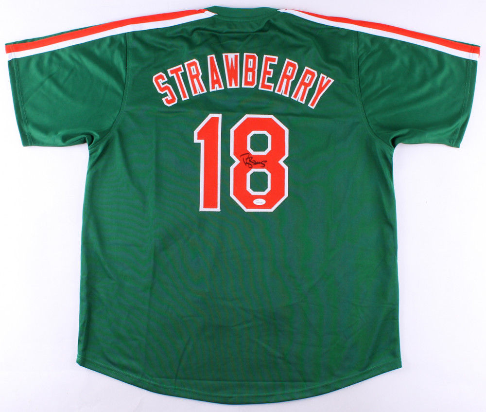 new products c103c 77751 Darryl Strawberry Signed Mets St Patricks Day Spring Training Jersey (JSA  COA)