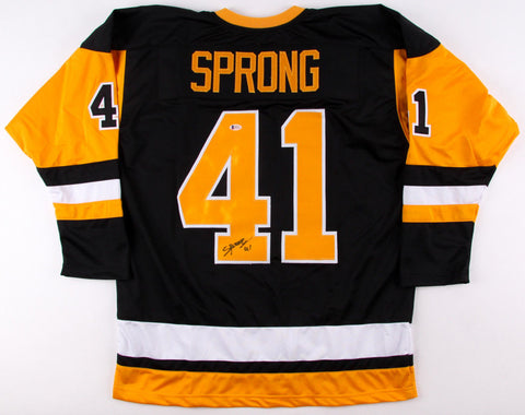 Daniel Sprong Signed Penguins Jersey (Beckett COA) Pittsburgh Rookie Right Wing