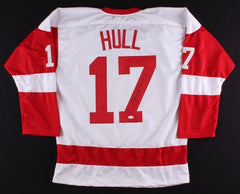 Brett Hull Signed Red Wings Jersey (JSA) 741 NHL Goals 4th Highest NHL total