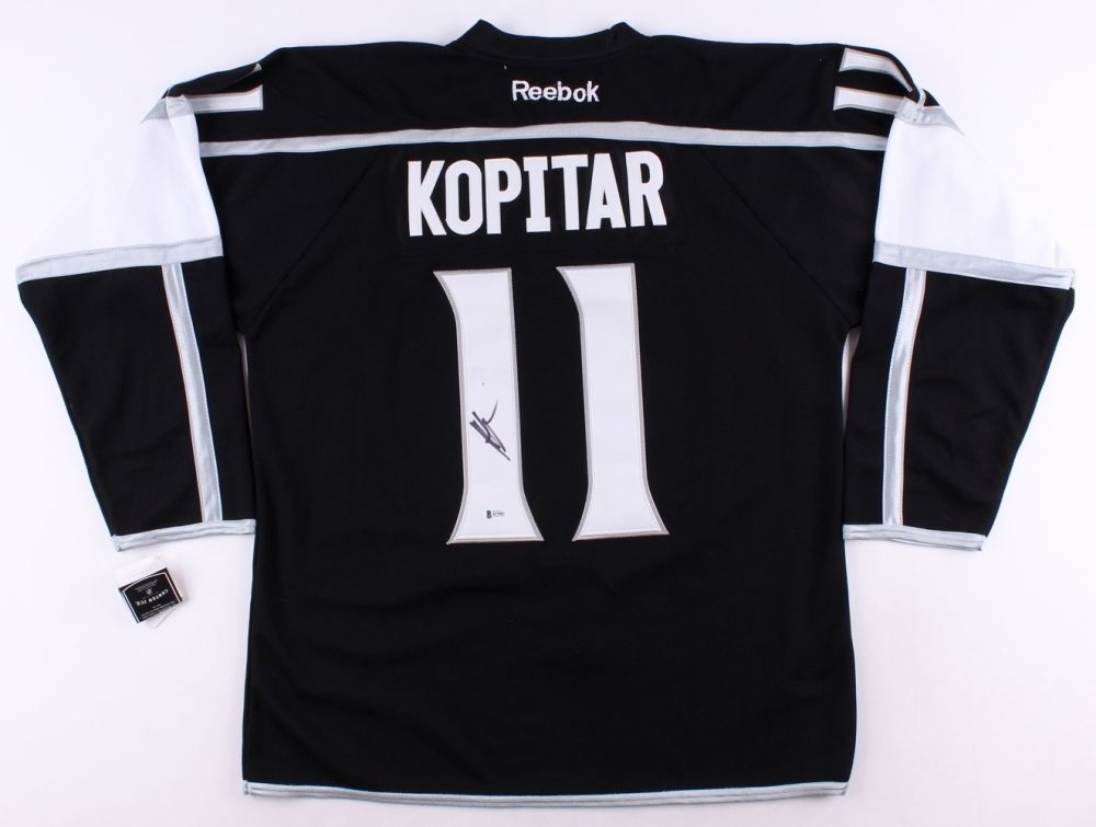 Anze Kopitar Signed Kings Jersey (Beckett COA) 11th Overall Pick 2005 NHL Draft