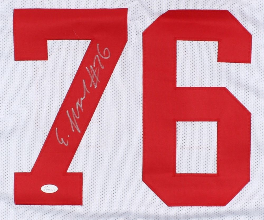 Ereck Flowers Signed Giants Jersey (JSA COA) 2nd Year Offensive Tackle / U Miami