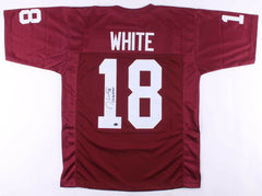 "Jason White Signed Oklahoma Sooners Jersey Inscribed ""03 Heisman"" (White Holo)"