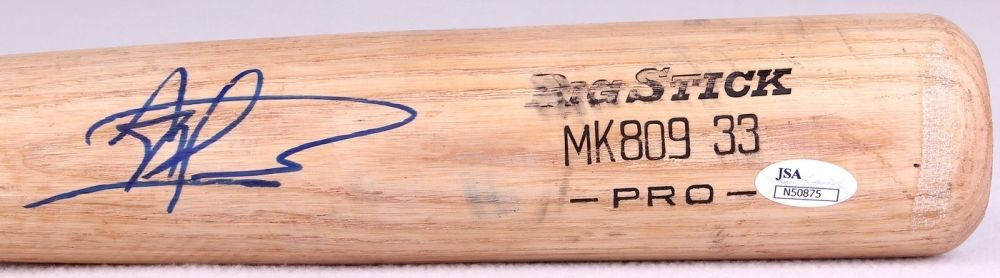 Albert Almora Big Stick Pro Game-Used Baseball Bat (JSA Hologram)