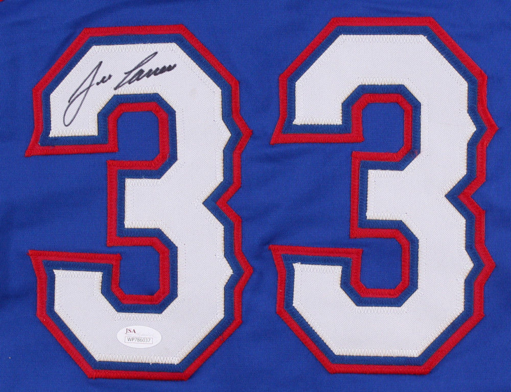 Jose Canseco Signed Rangers Blue Alt. Jersey (JSA COA) 2x World Series Champion