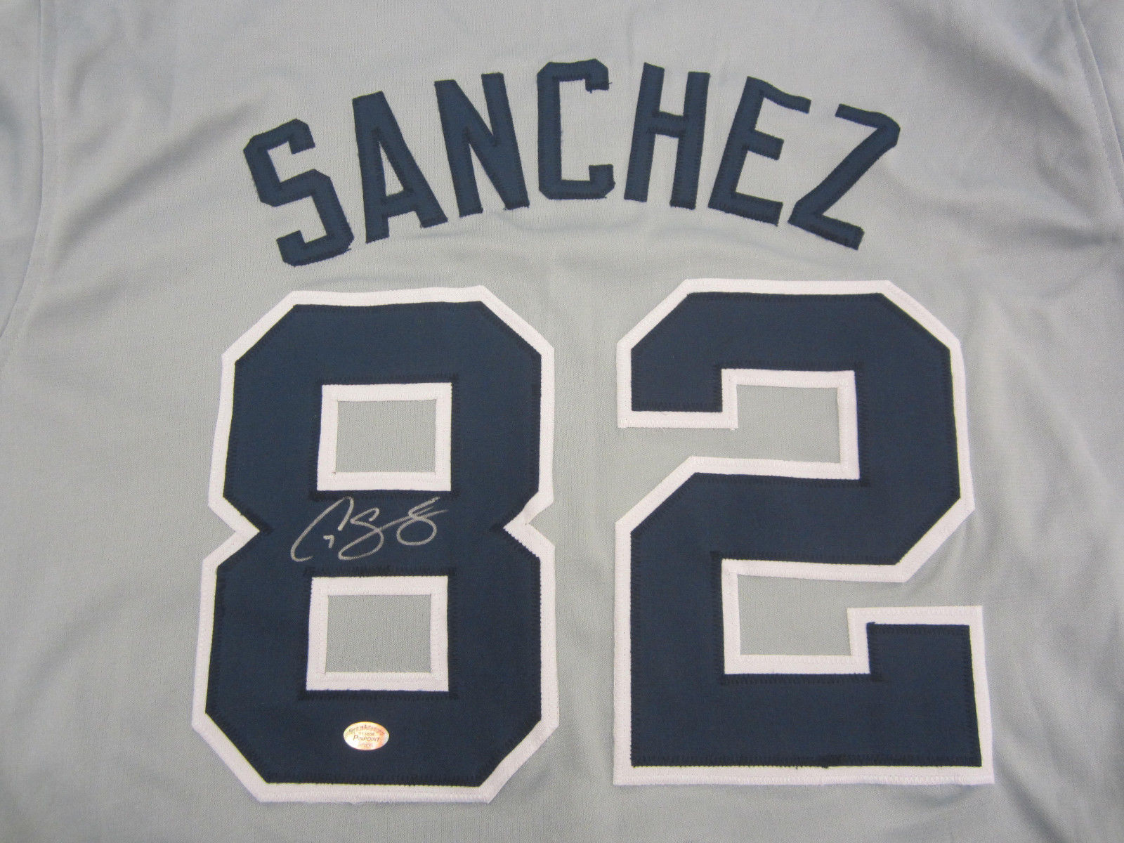 quality design 3c4e9 fd41e Gary Sanchez Signed Yankees Jersey / Rare Spring Training #82 Rookie Year  Jersey