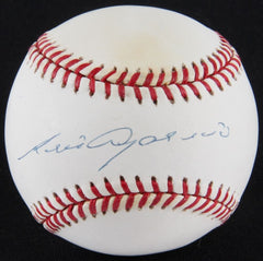 Luis Aparicio Signed OAL Baseball (SOP) Hall of Fame / 1956 Rookie of the Year