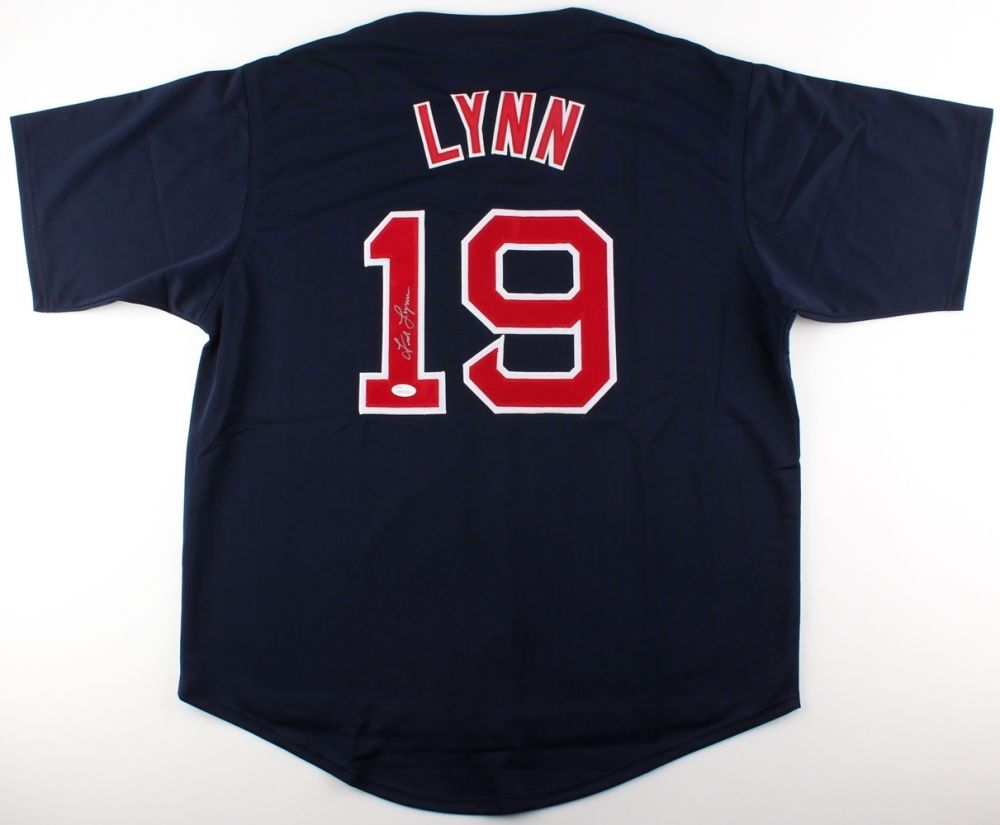 Fred Lynn Signed 1975 Boston Red Sox Jersey (JSA) 1975 A.L. Rookie of the Year