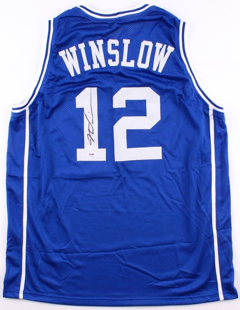 detailed look c6f03 f9bb3 Justise Winslow Signed Duke Blue Devils Jersey (PSA) 2015 NCAA Champ/ Miami  Heat