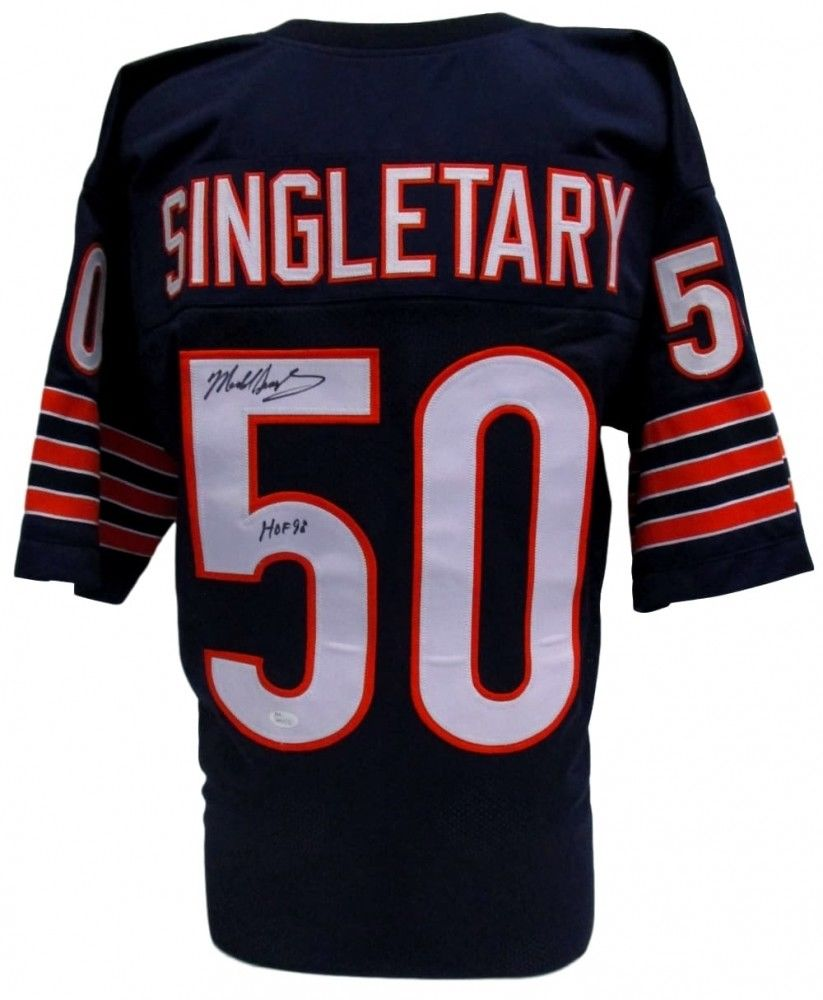 Mike Singletary Signed Bears Pro-Style Jersey Inscribed