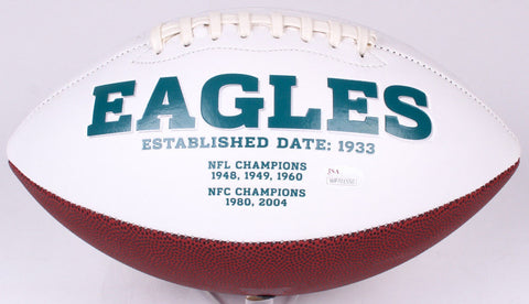 Ron Jaworski Signed Philadelphia Eagles Logo Football (JSA COA)
