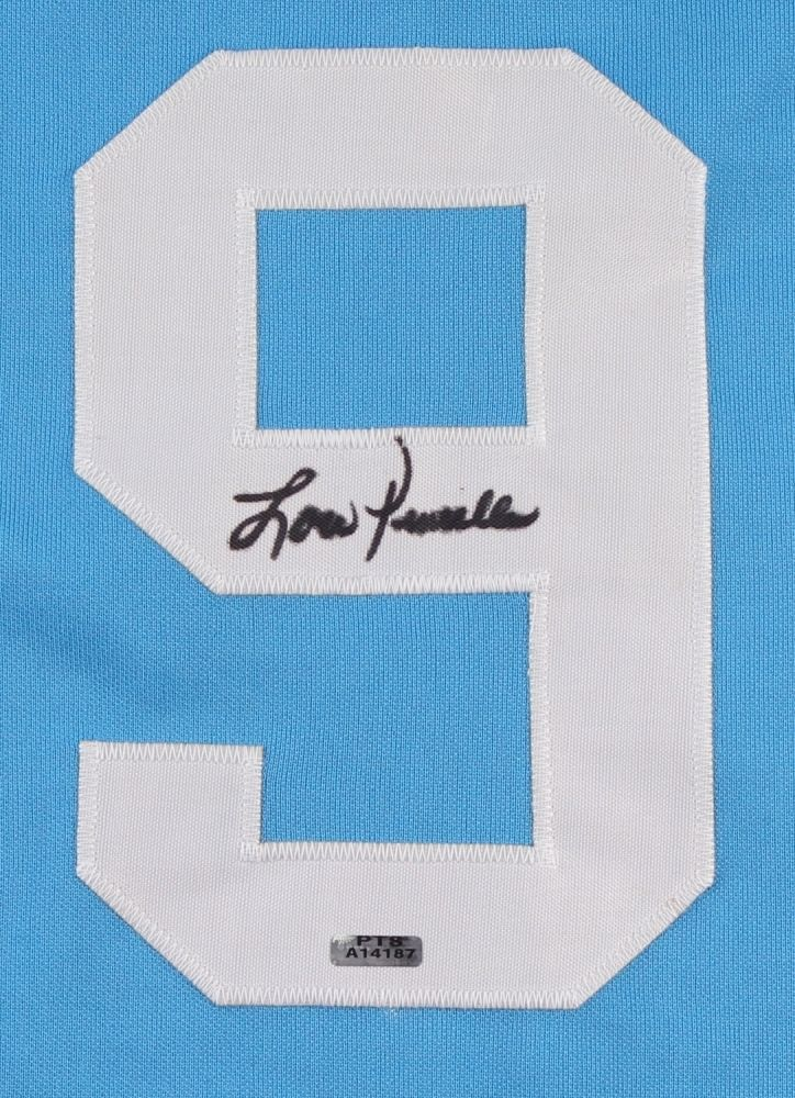 Lou Piniella Signed Royals Career Highlight Stat Jersey (Prime Time COA )