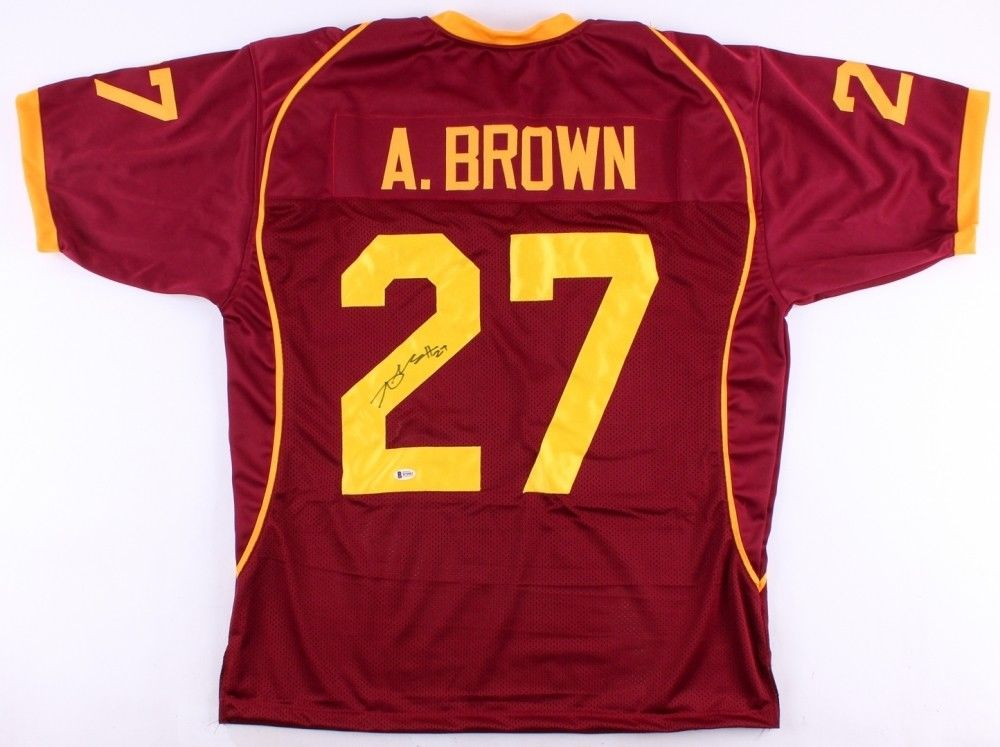 Antonio Brown Signed Central Michigan Chippewas Jersey (Beckett) Seelers W.R.