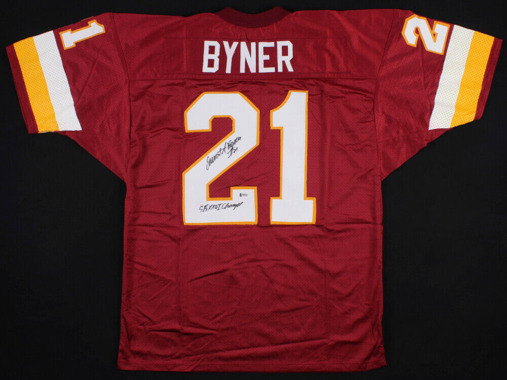 "Earnest Byner Signed Redskins Jersey Inscribed ""SB XXVI Champs"" (Beckett COA)"