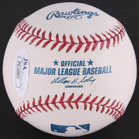 Tom Glavine Signed OML Baseball (JSA COA) 305 Wins,2,607 K's Atlanta Braves Ace