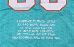 "Larry Little Signed Miami Dolphins Stat Jersey Inscribed ""HOF 93"" (JSA COA)"