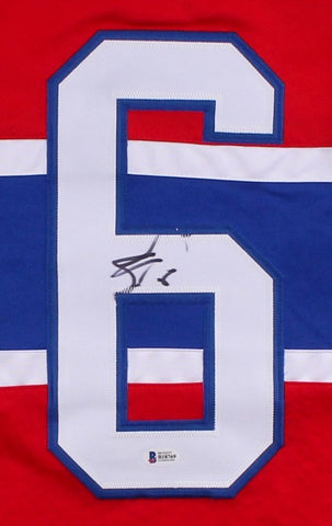 Shea Weber Signed Canadiens Jersey (Beckett) 49th Overall pick 2003 NHL Draft