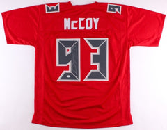 Gerald McCoy Signed Red Tampa Bay Buccaneers Jersey (JSA)5× Pro Bowl (2012–2016)