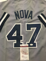 Ivan Nova Signed New York Yankees Signed Gray Jersey (JSA COA) Current Pirate SP