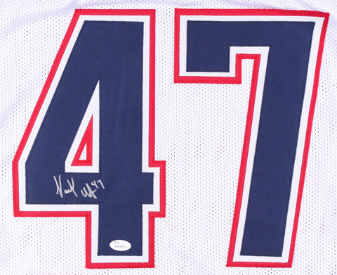 Jacob Hollister Signed Patriots Jersey (JSA COA) New England Back Up Tight End