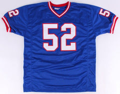 "Pepper Johnson Signed Giants Jersey Inscribed ""2X SB Champs"" (PSA COA)"