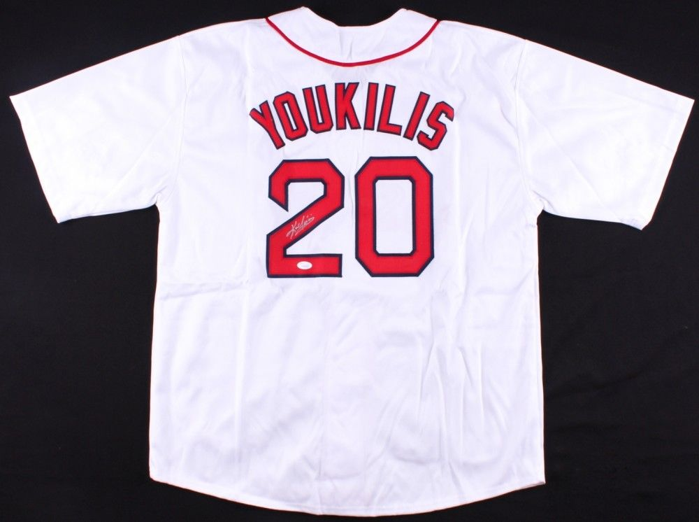 Kevin Youkilis Signed Red Sox Jersey (JSA COA) Boston Career (2004–2012) 1B & 3B
