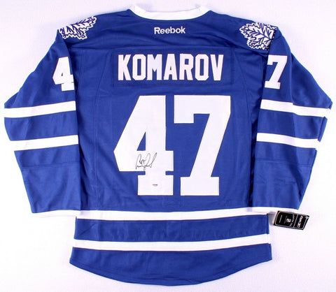 Leo Komarov Signed Toronto Maple Leafs Jersey (PSA) NHL Playing Career 2013-now