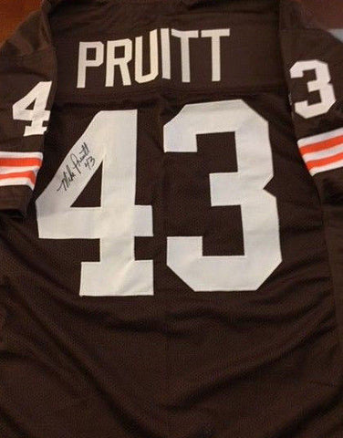 Mike Pruitt Signed Cleveland Browns Football Jersey (JSA COA) 2× Pro Bowl Back