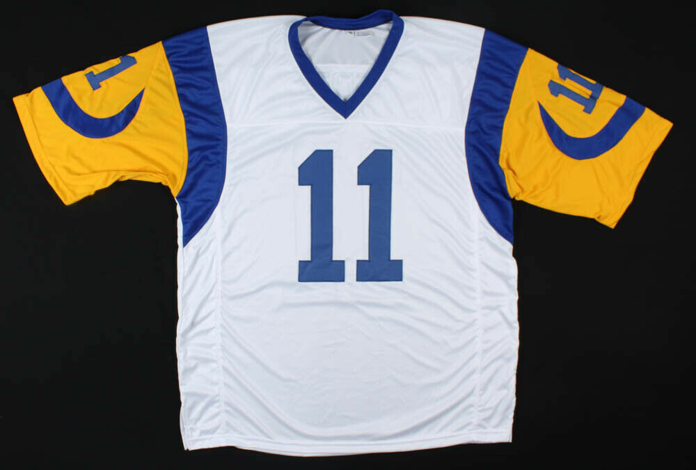 Jim Everett Signed Rams White Jersey (JSA COA) Los Angeles Quarterback 1986–1993