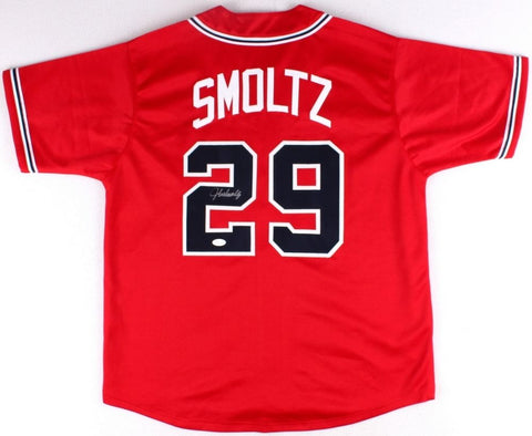 John Smoltz Signed Atlanta Braves Jersey (JSA) 8x All Star Pitcher / 95 WS Champ