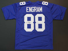 Evan Engram Signed Blue Giants Jersey (JSA) New York 1st Rd Pick 2017 Draft T.E.