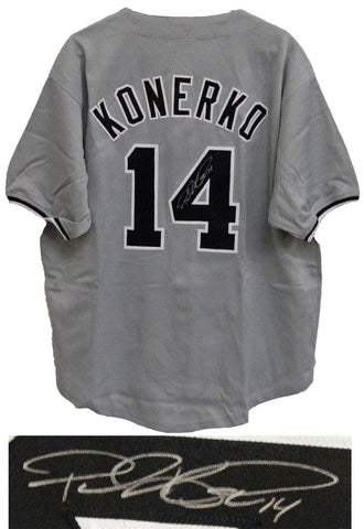 PAUL KONERKO AUTORGAPHED SIGNED CHICAGO WHITE SOX  JERSEY
