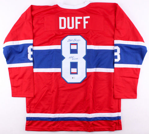 "Dick Duff Signed Montreal Canadiens Jersey Inscribed ""HOF 2006"" (Beckett COA)"