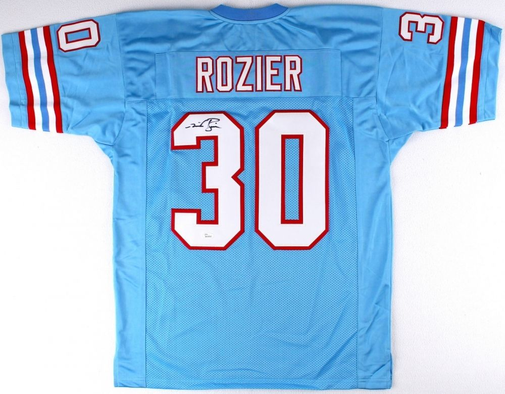 Mike Rozier Signed  Houston Oilers Jersey (JSA COA)