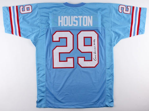 "Ken Houston Signed Oilers Jersey Inscribed ""HOF '86"" (JSA COA) 12 X Pro Bowler"