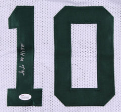 Jo Jo White Signed White Boston Celtics Jersey (JSA COA) NBA Hall of Fame 2015