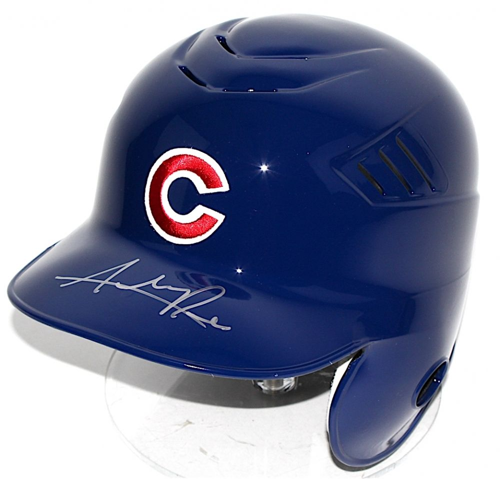 Addison Russell Signed Cubs Authentic Rawlings Full-Size Batting Helmet (MLB)