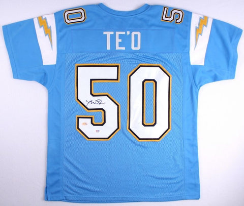 Manti Teo Signed Chargers Jersey (PSA COA & Teo Hologram)
