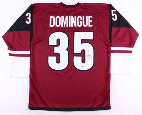 Louis Domingue Signed Coyotes Jersey (Beckett COA) Arizona Goal Tender