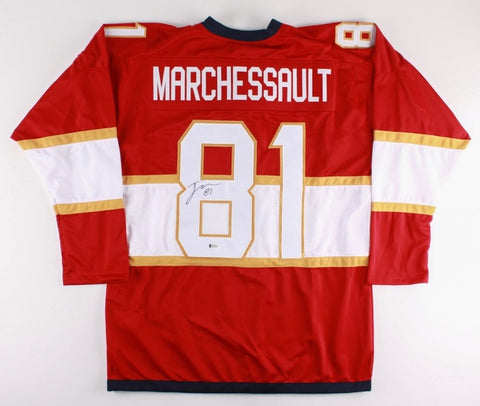 Jonathan Marchessault Signed Panthers Jersey (Beckett) Playing career 2011–Now