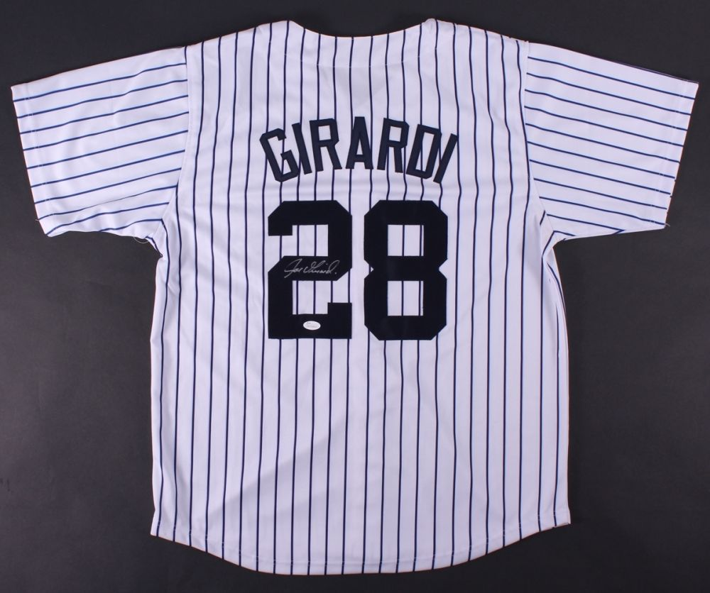 Joe Girardi Signed Yankees Jersey (JSA COA) Pinstripped New York Manager Jersey