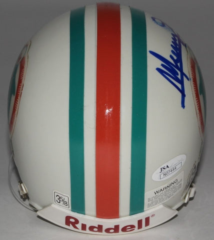 Mercury Morris Signed Dolphins Mini-Helmet (JSA COA) 1972 17 0 Super Bowl Champs