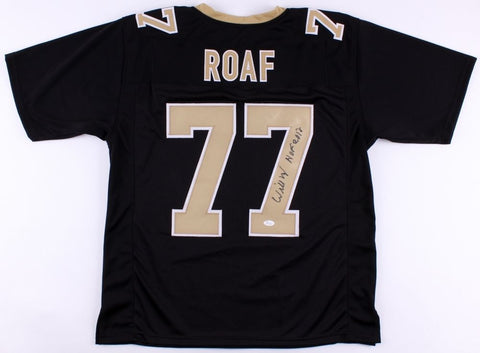 "Willie Roaf Signed Saints Black Jersey Inscribed ""HOF 2012"" (JSA COA)"