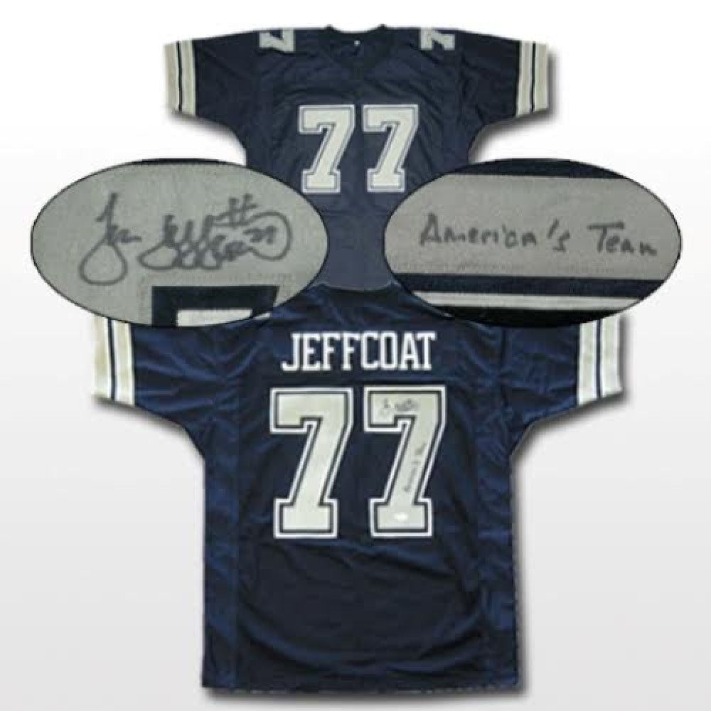 finest selection 0e575 22607 Jim Jeffcoat Signed Cowboys Throwback Jersey Inscribed