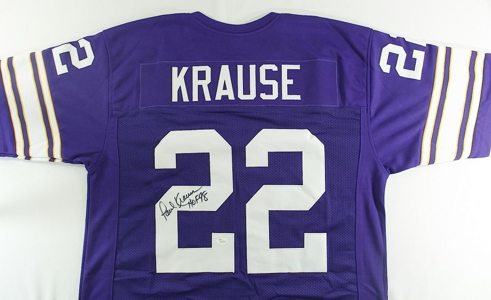 promo code fe017 885e3 Paul Krause Signed Vikings Jersey Inscribed