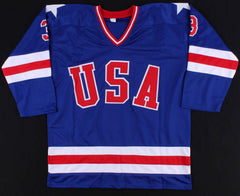 Ken Morrow Signed 1980 Team USA Jersey (JSA COA) Miracle on Ice /Gold Medal Team
