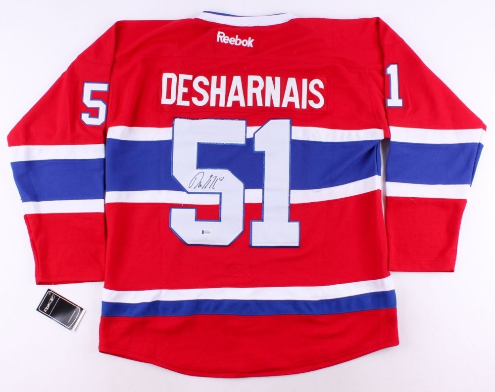 David Desharnais Signed Canadiens Jersey (Beckett COA) Montreal All Star Center